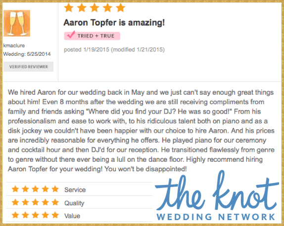 Aaron Topfer Review - 2014