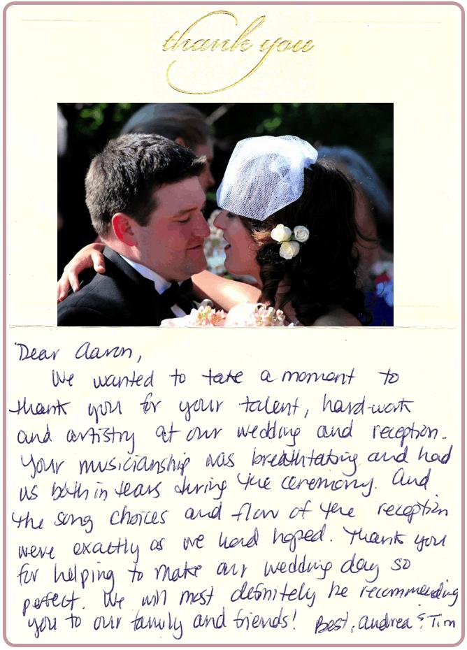 Andrea & Tim Boyle Letter