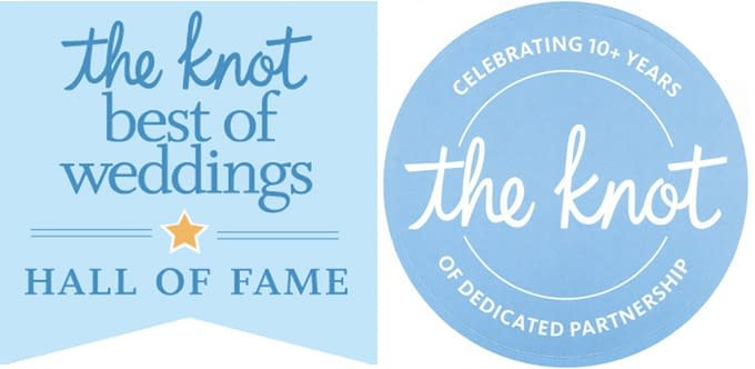 Our Company was Recently Inducted into The Knot's Hall of Fame & 10+ YEARS CLUB!