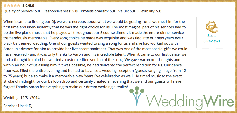 WeddingWire Review - Dec. 2014